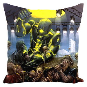 Machine Men Throw Pillow