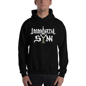 Unisex Hooded Sweatshirt w/ White Logo