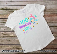 Load image into Gallery viewer, 100 Mermazing Days for Kids 100 Days of School Sublimation Transfers