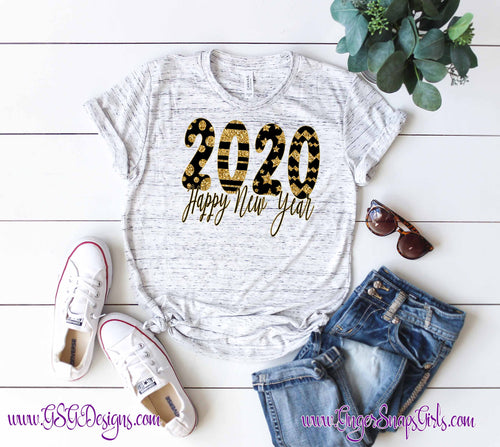 2020 Happy New Years Sublimation Transfers