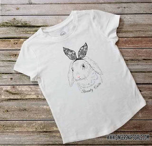 Easter Rabbit Beauty Cutie Personalized Bunny Sublimation Transfers