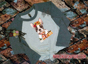 Autumn Frenchie, French Bull Dog Mom Sublimation Design File