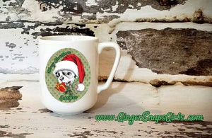 Custom Frenchie Merry Christmas Red and Green Dog vintage style Sublimation Transfers