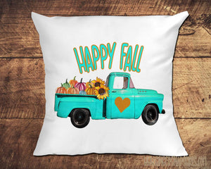 Happy Fall Antique Truck with Pumpkins Autumn Sublimation Transfers