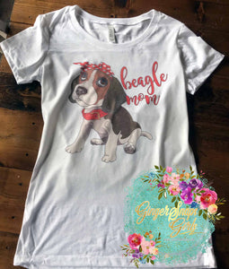 Beagle Mom Beagle in Bandanna Sublimation Transfers