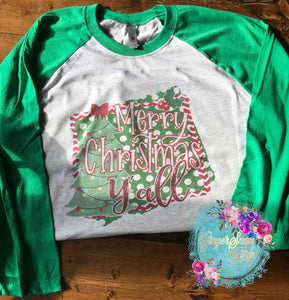 Merry Christmas Y'all Sublimation Transfers