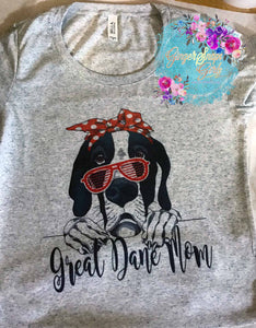 Great Dane Mom Mom , Dog in Bandanna Sublimation Transfers