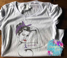 Load image into Gallery viewer, Lupus Purple Support Ribbon Strong Woman Digital Design File