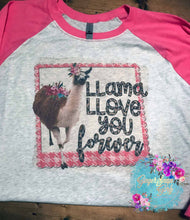 Load image into Gallery viewer, Llama Llove You Forever vintage style Sublimation Transfers