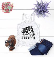 Load image into Gallery viewer, Jesus Loves Me & My Tattoos Sublimation Transfers