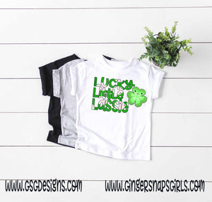 Lucky Little Lassie St Patrick's Day Sublimation Transfers