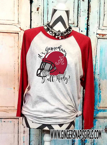 Custom It's Gameday Y'all Ready?  Football Helmet Team or School Pride Sublimation Design File