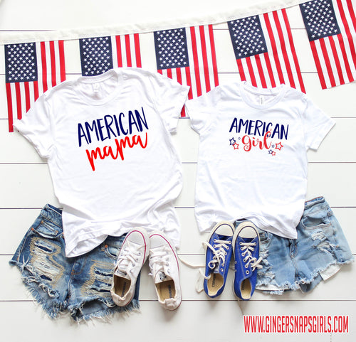 American Mama red, white, & blue Sublimation Transfers