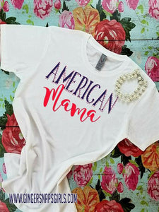American Mama Red, White, Blue Digital Design, Sublimation Design File