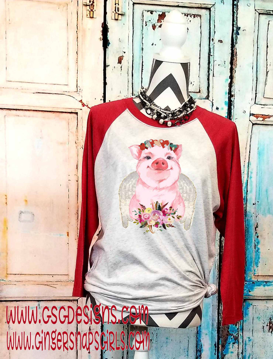 Valentine's Day Cupid Pig with Hearts and Flowers Sublimation Transfers