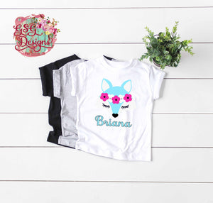 Arctic Fox Glitter Personalized Sublimation Transfers