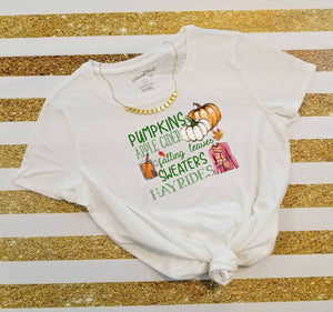 Autumn Pumpkins Apple Cider Falling Leaves Sweaters Hay Rides, Fall Sublimation Transfers