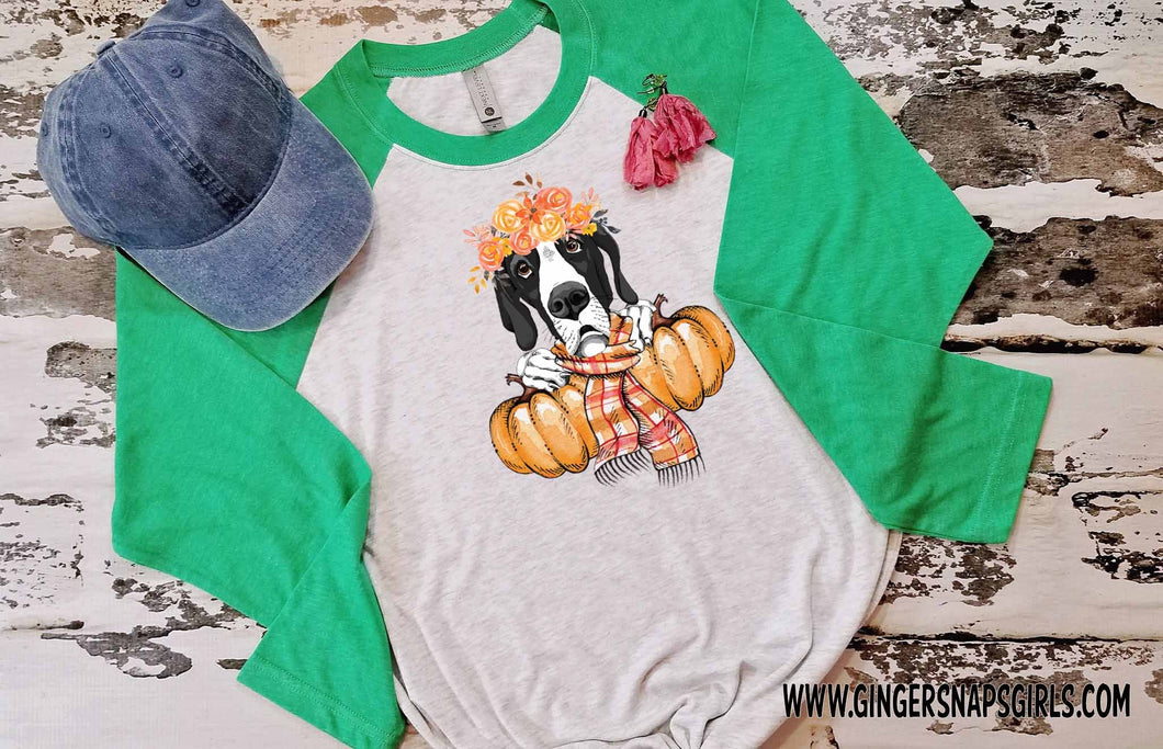 Autumn Great Dane vintage style Sublimation Transfers
