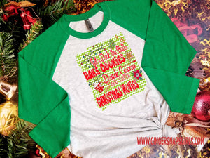 Let's Deck the Halls, Bake Cookies, Drink Cocoa, and Watch Christmas Movies Merry Christmas Sublimation Transfers