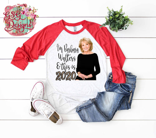 I'm Barbara Walters and It's 2020 New Year's Eve Digital Design File