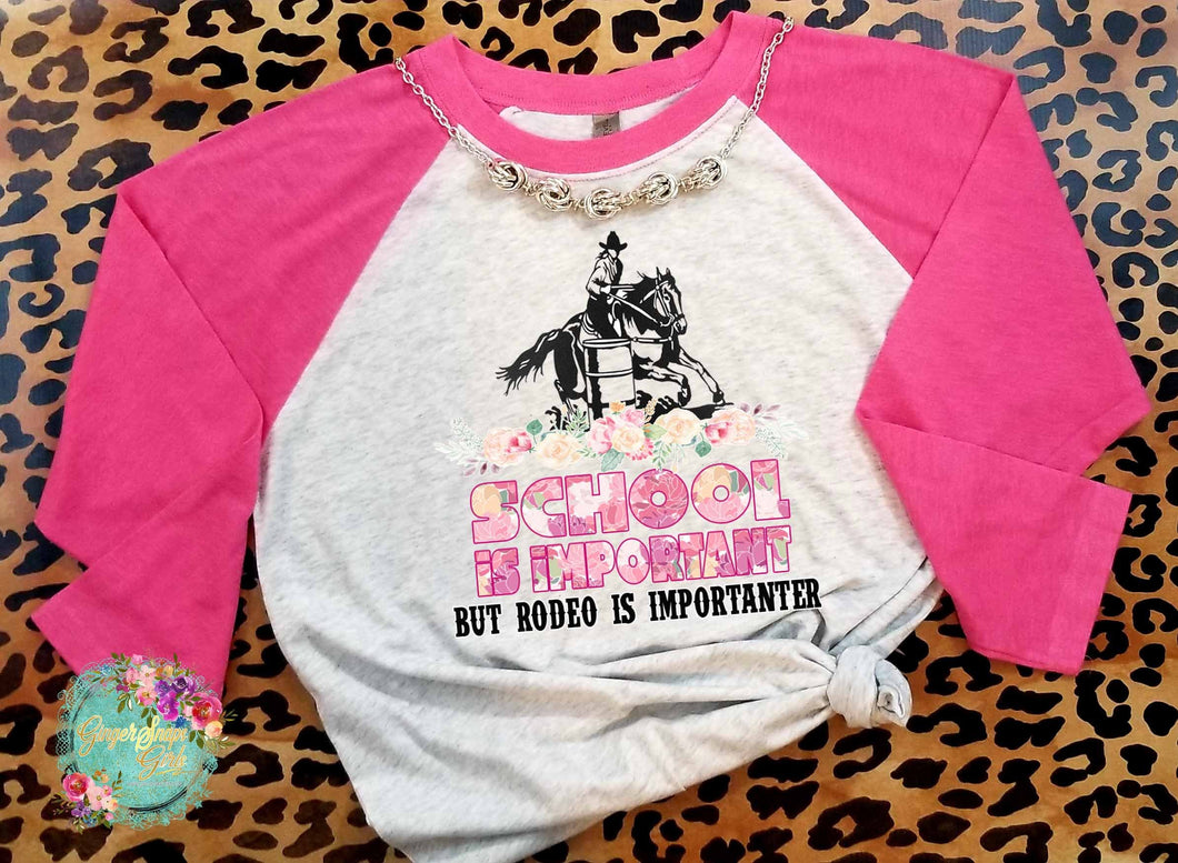School is Important but Rodeo is Importanter Barrel Racer Digital Sublimation Design File