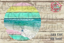 Load image into Gallery viewer, Beach Light Ocean Serape Vintage Background PNG, Instant Download, Sublimation Graphics, Frame Clipart Sublimation Design