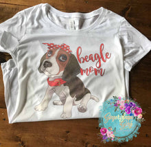 Load image into Gallery viewer, Beagle Mom Beagle in Bandanna Sublimation Transfers