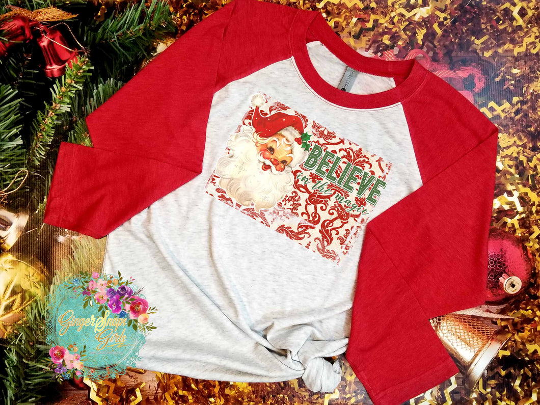 Believe in the Magic Vintage Santa Claus Christmas Sublimation Transfers