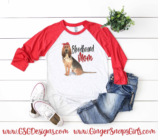 Bloodhound Mom Sublimation Transfers