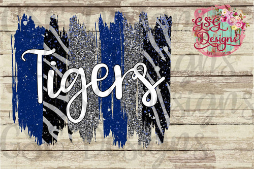 Custom Team or School Glitter Leopard Colors Brush Strokes with Names Digital Design File .png
