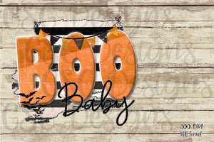 Boo Baby Halloween Digital Design File