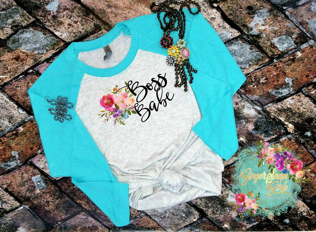 Boss Babe Boho Floral and Feathers Inspirational Funky Printable and Sublimation Digital Design File