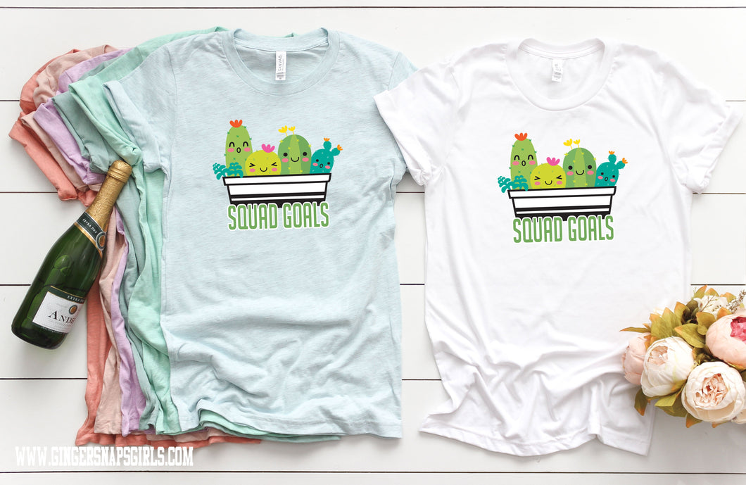 Cactus Squad Goals Sublimation Transfers
