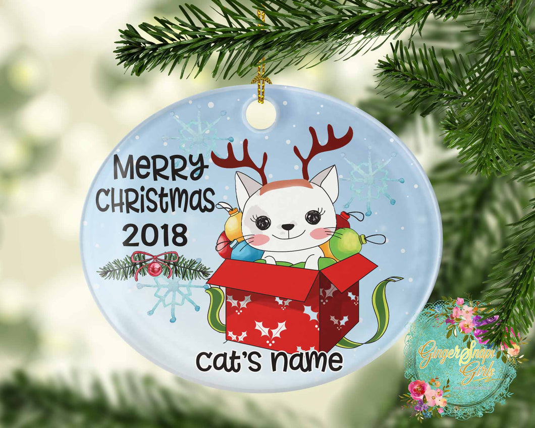 Christmas Cat Personalized Sublimation Transfers