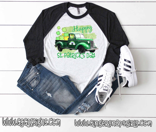 Happy St Patrick's Day Vintage Truck Digital Design File PNG