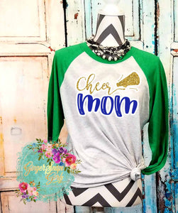 Cheer Mom Megaphone Custom Team Color Sublimation Transfers
