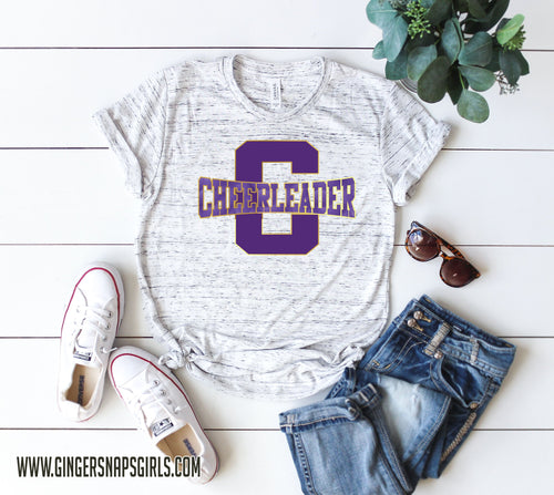 Cheerleader School Spirit, Team Colors Sublimation Design File