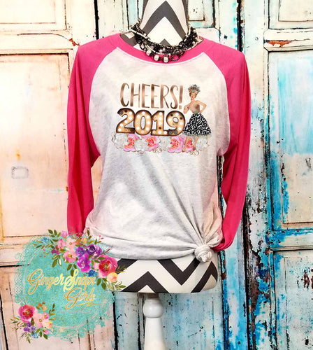 Cheers 2019 Funky Sublimation Transfers
