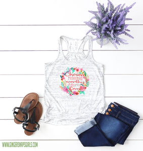 Chosen Redeemed Adored Loved Bright Floral Wreath Sublimation Transfers