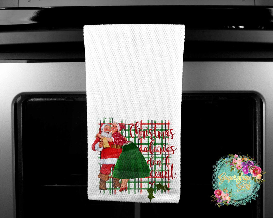 Christmas Calories Don't Count Santa Sublimation Transfers