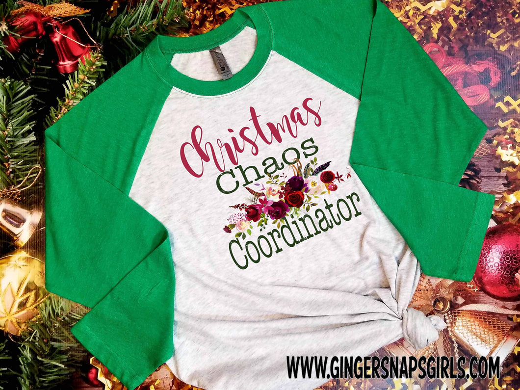 Christmas Chaos Coordinator Floral Digital Printable and Sublimation Design File