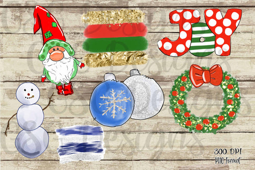 Christmas Clip Art Set digital design files .png