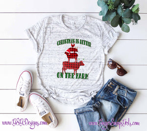 Christmas is Better on the Farm Sublimation Transfers