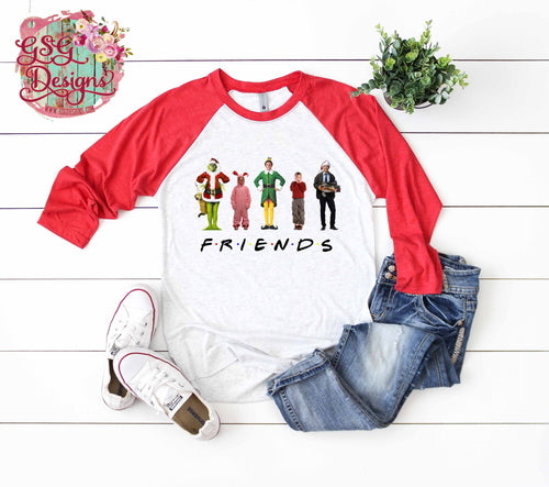 Friends Christmas Clark Screen Print High Heat Transfers Adult & Youth RTS