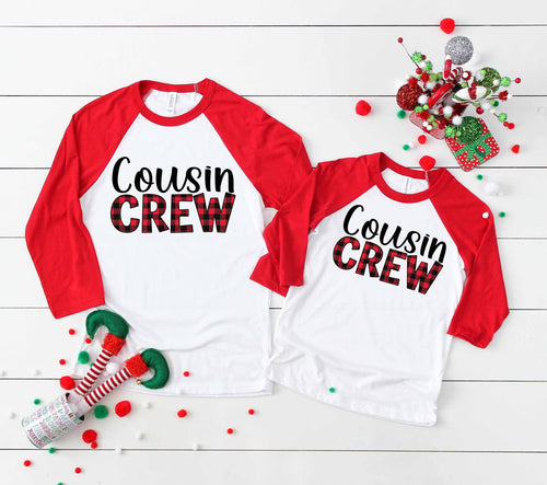 Cousin Crew Adult and Youth Buffalo Plaid Screen Print High Heat Transfers RTS