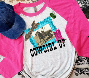Cowgirl Up Funky Sublimation Transfers