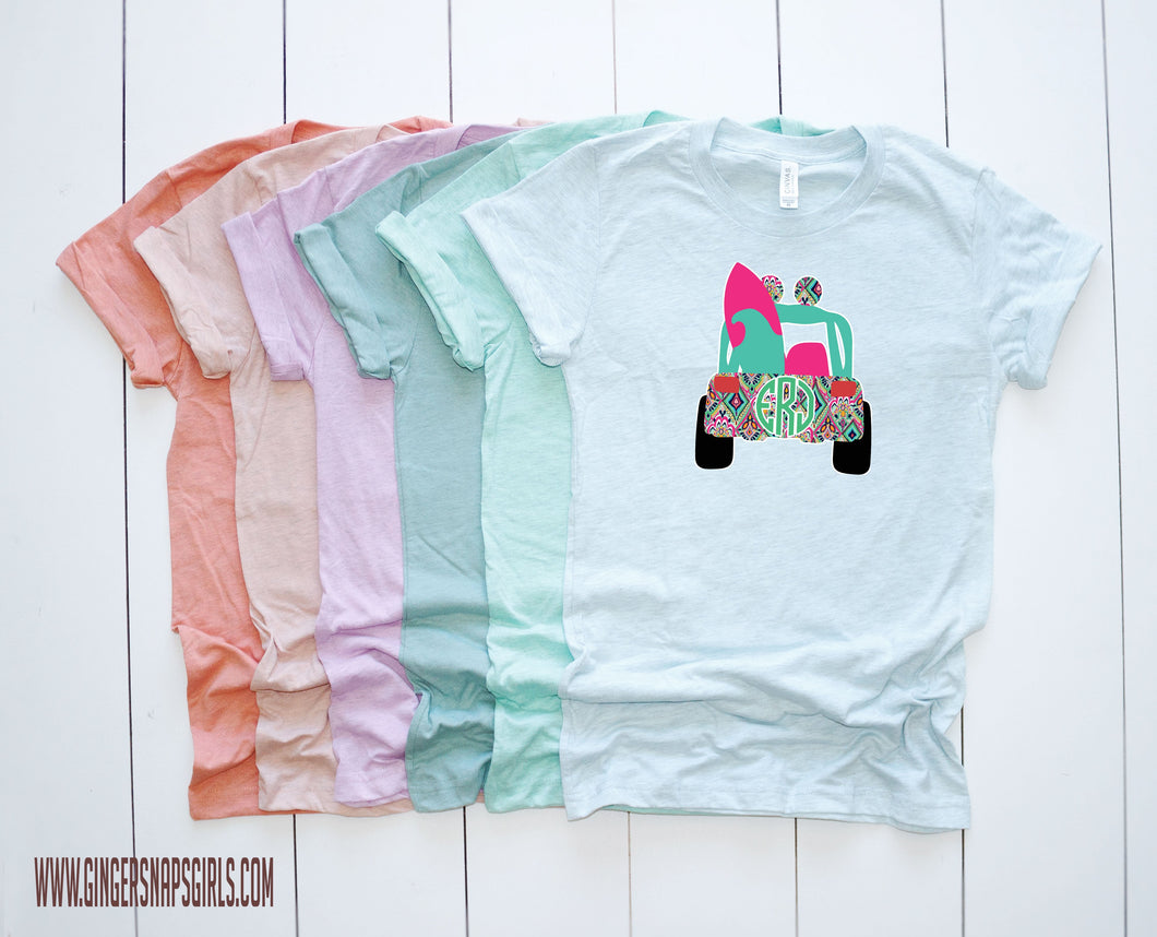 Jeep Summer Lilly style & Monogram vintage style Sublimation Transfers