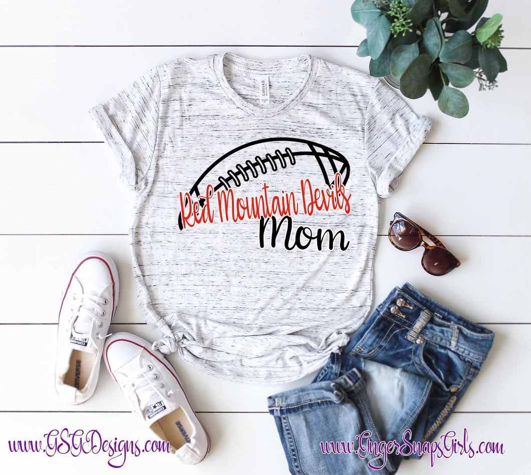 Football Custom Mom Team or School Pride Digital Design File in PNG format