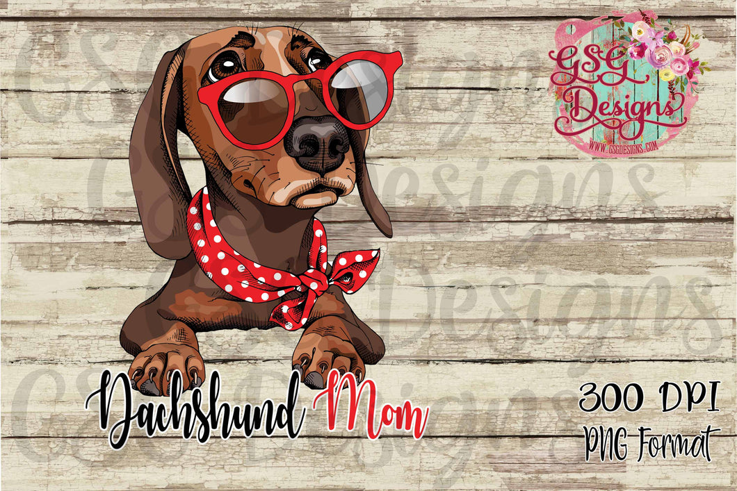 Dachshund Mom Sublimation Transfers