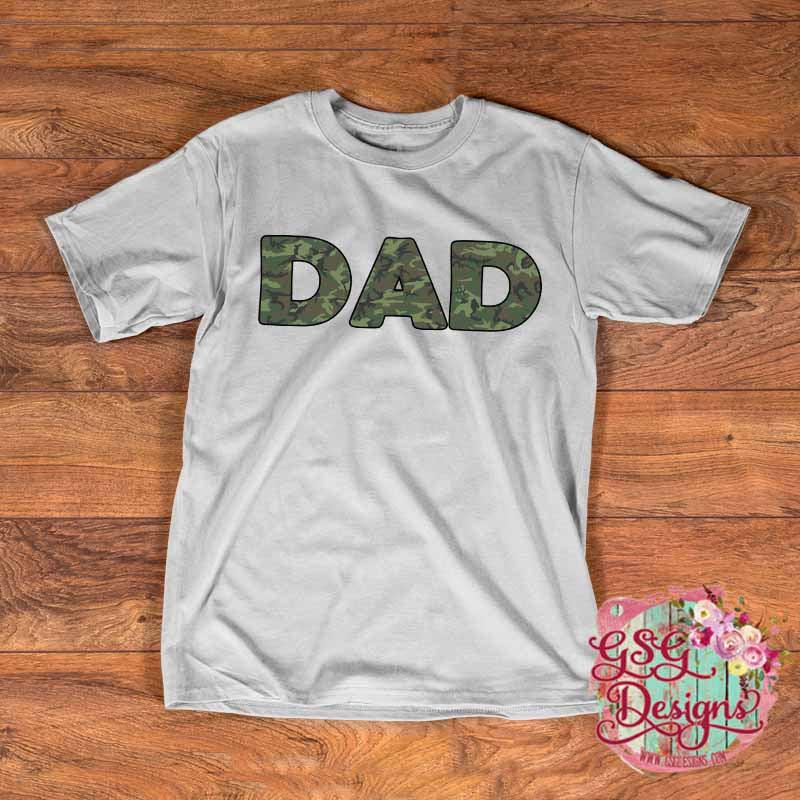 Dad Camouflage Digital Design File PNG